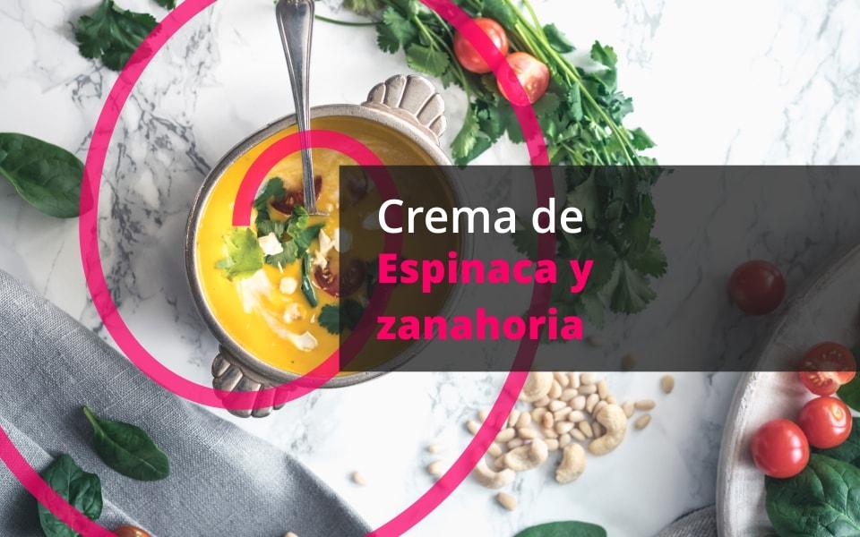 Crema de espinacas y zanahoria